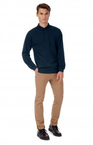 POLO-HOMME-SAFRAN-MANCHES-LONGUES--CGSAFML