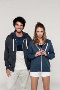 SWEAT-SHIRT-CAPUCHE-ZIPPÉ-CHINÉ-FRENCH-TERRY-UNISEXE--K451