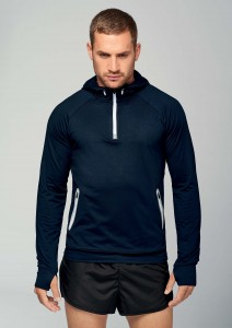 Sweat-shirt-capuche-1/4-zip-sport---PA360